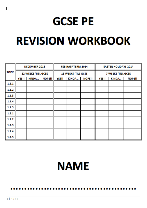 GCSE Revision Booklet